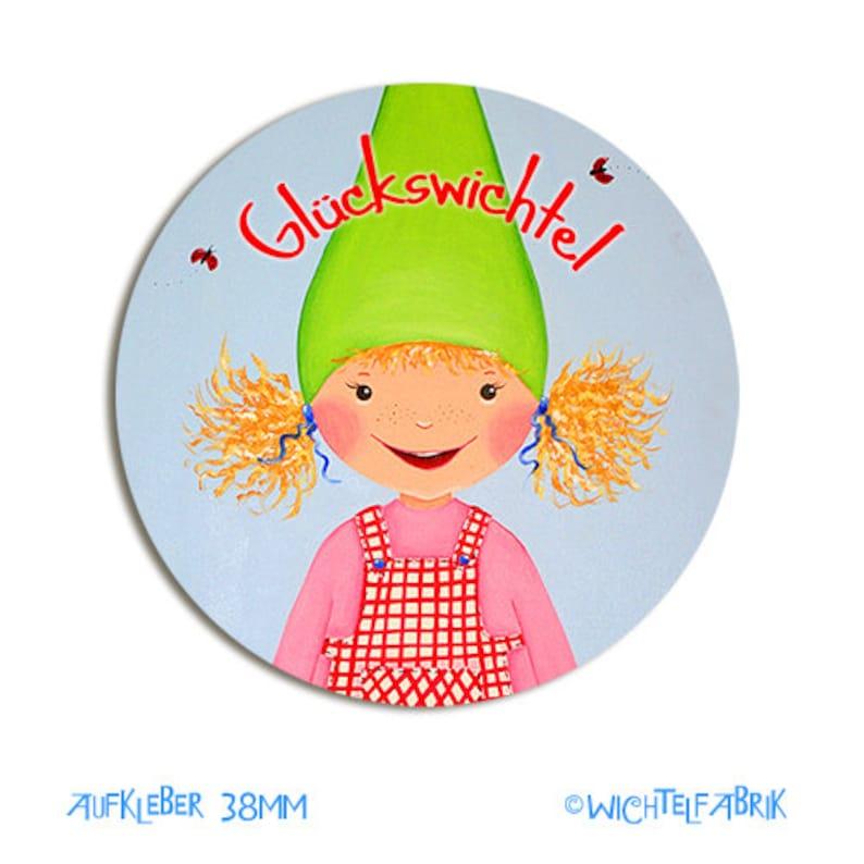 8 Sticker Lucky Elf Girl 38 mm image 0