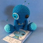 Amigurumi Blue Love Voodoo Doll