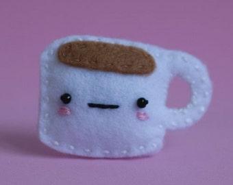 Cup of Tea Kawaii Plush Pin