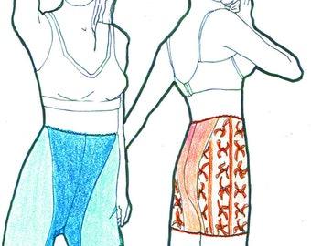 PANTY E-booklet Pattern LONG LEG Briefs by Merckwaerdigh