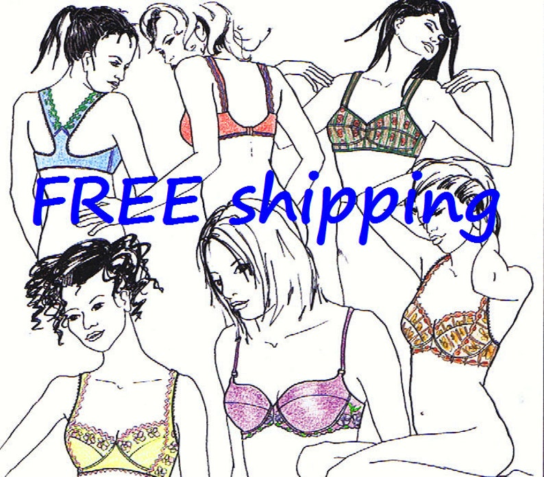 d95e17e4aaf4d BRA Pattern BHS10 with 5 designs   FREE Shipping by