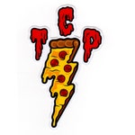 """TCP Pizza Sticker - FREE SHIPPING! 4"""" Full Color Diecut"""