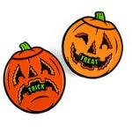 Trick or Treat Jack-O-Lanterns Enamel Pin Set - Halloween, Pumpkin, Blow Mold, Orange