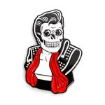 "Hellvis Enamel Pin - 1.5"" Lapel Pin, Elvis, Rockabilly, Horror Punk"