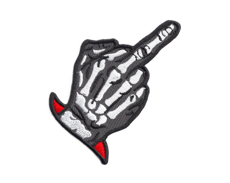 Zero Fucks Given Patch  Embroidered Patch Middle Finger image 0