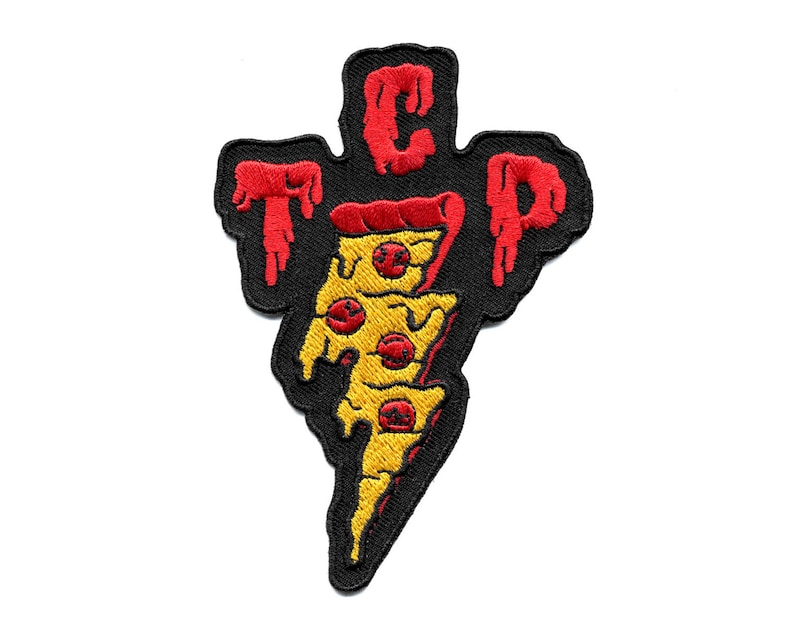 TCP Pizza Patch  Taking Care of Pizza Embroidered Patch image 0