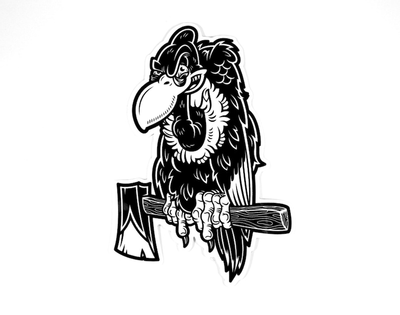 Buzz Off Vulture Vinyl Sticker FREE SHIPPING image 0