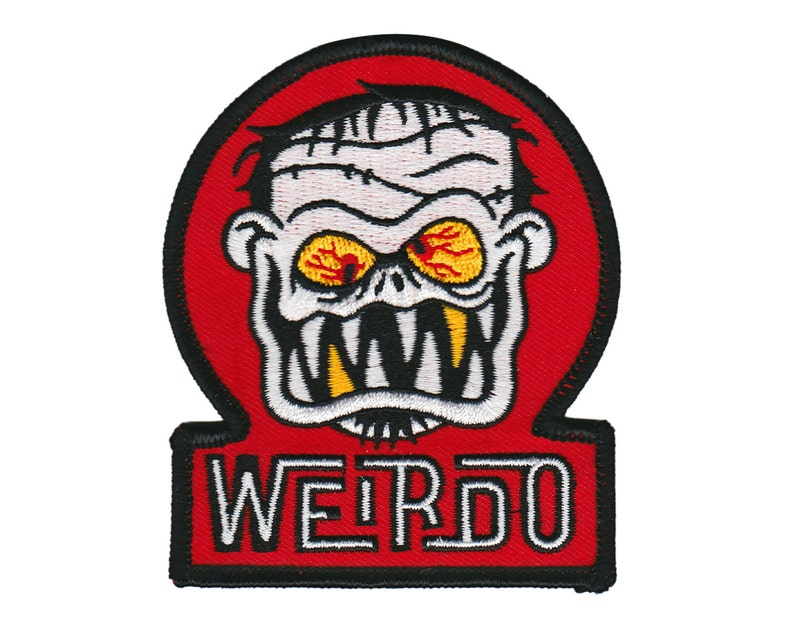 Weirdo Patch  Lowbrow Monster Art Embroidered Patch image 0