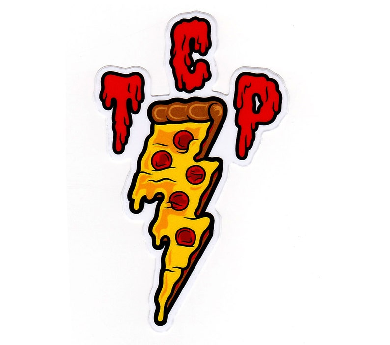 TCP Pizza Sticker  FREE SHIPPING 4 Full Color Diecut image 0