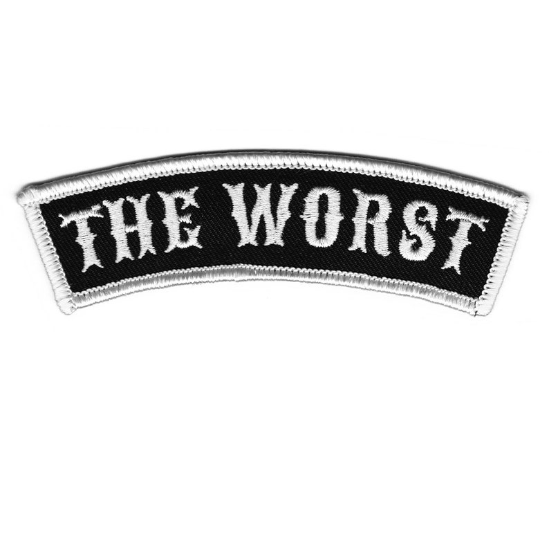 The Worst  Embroidered Patch Name Rocker image 0