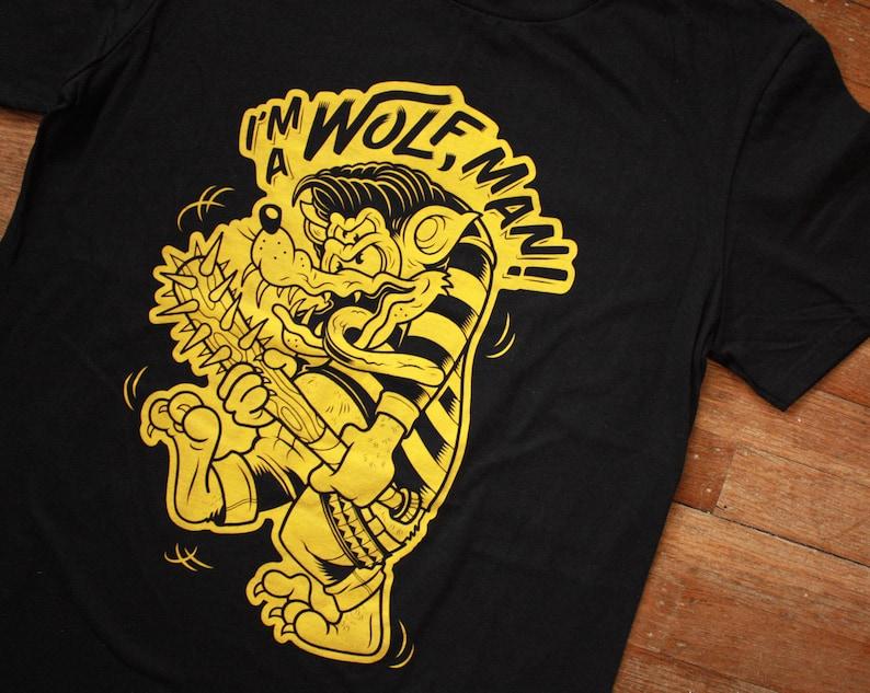 I'm A Wolf Man T-Shirt Werewolf Wolfman Lone Wolf image 0