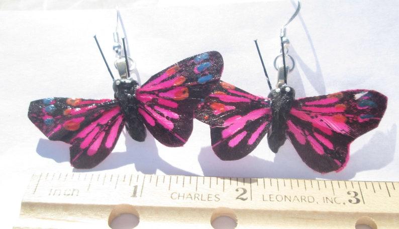 5fc38306c Butterfly Earrings Pierced Earrings Feather Butterfly pierced | Etsy