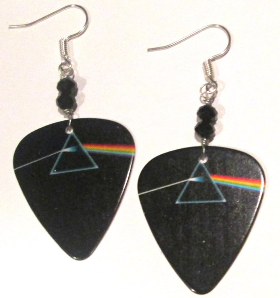 pink floyd dark side of the moon guitar pick hand made wire etsy. Black Bedroom Furniture Sets. Home Design Ideas