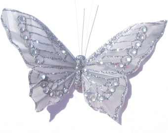 Butterfly Hair Clip SOLD INDIVIDUALLY Silver butterfly Gift For Her Butterfly Accessory handmade hair clip by Ziporgiabella