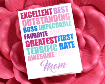 Best Mom Card | Happy Mother's Day Card for Mom | For Grandma | For Step-Mom | Mother in Law Greeting Card