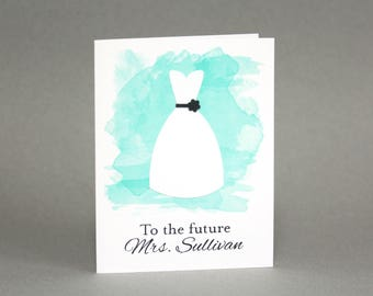 personalized future mrs bridal shower card custom bride to be card wedding shower card bridal shower gift engagement watercolor