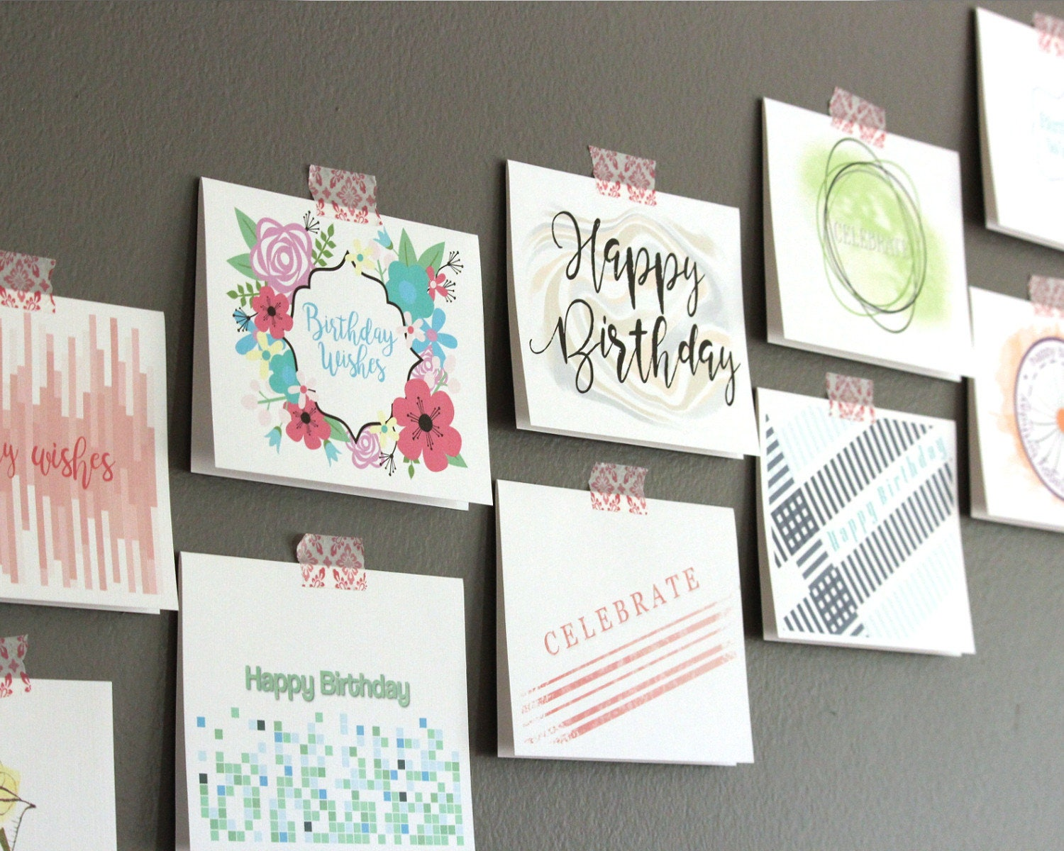 Birthday Card Set Boxed Greeting Assortment Bulk