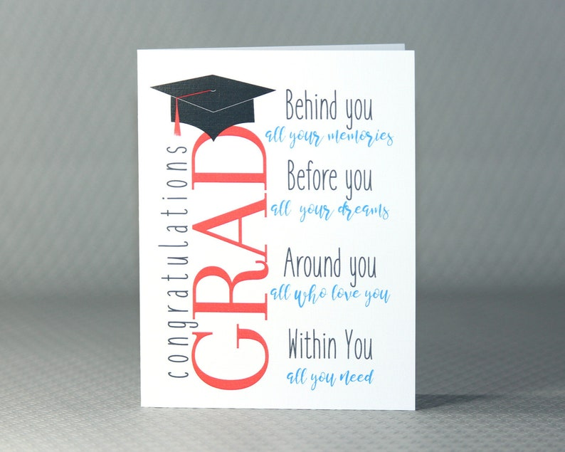 photo regarding Printable Graduation Cards identify Printable Commencement Card Inspirational Substantial College Commencement Card  Higher education Congratulations Grad