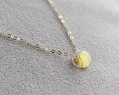 kerry in lemon stripe - gold and glass necklace by elephantine