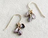 """romantic plum colored earrings - earrings for women, purple beaded earrings, dangle earrings, gift for her - """"fräulein"""" earrings in plum"""