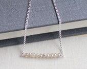 sub rosa bracelet - minimalist sterling silver bracelet - crystal bracelet - gift for her