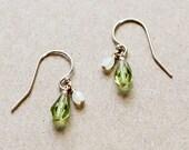 yael - green teardrop earrings