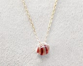 kerry in candy stripe - glass bead necklace by elephantine
