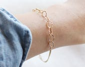 thelma bracelet - 14k gold fill mixed chain bracelet - gold bracelet by elephantine