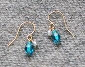 yael - blue teardrop earrings