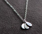 """layered sterling silver pendant necklace - """"petals"""" necklace - made by elephantine jewelry"""