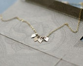 akira necklace - modern geometric 14k goldfill necklace - dainty everyday gift for her