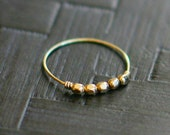 libra ring - delicate gold beaded ring - 14k gold filled stacking ring, layering ring, thin dainty ring, skinny ring, ultra thin