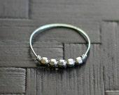 libra - minimalist handmade silver ring