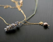 l'enfant - modern gold and pearl necklace by elephantine