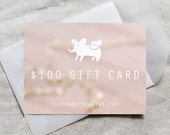 jewelry gift card - 100 dollar gift card for Elephantine Jewelry - gift for her