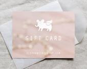 elephantine jewelry gift card - gift for her, last minute gift, surprise gift, jewelry gift certificate, birthday gift, custom amount