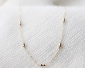 "long dainty gold necklace - gift for her - ""maya"" beaded necklace"