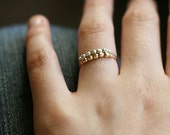 libra ring set - gold and silver ring set - stacking rings - two ultra light beaded rings - mixed metal jewelry - super thin rings