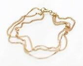 "layered 14k gold filled bracelet - ""soleil"" chain bracelet - handmade jewelry by elephantine"