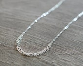 sterling silver layered necklace, dainty necklace, choker, delicate necklace for her, sterling silver chain, thin multi strand necklace