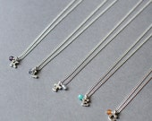 thinking of you - silver initial necklace