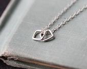 "silver squares geometric necklace // ""conmigo"" // sterling silver handmade necklace by elephantine"