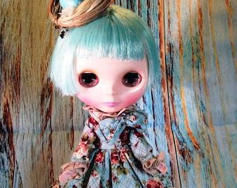 Blythe Doll Robins Egg Nest Hair Fascinator Hairclip