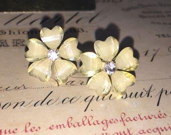 Heart-Shaped Floral Earrings