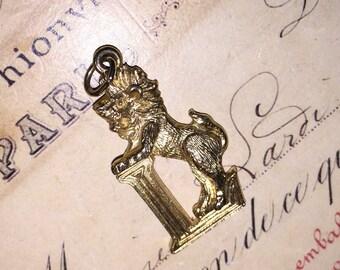 Vintage Gold Lion Pendant