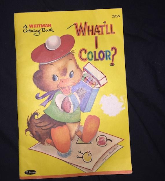1964 Whitman Mini Coloring Book