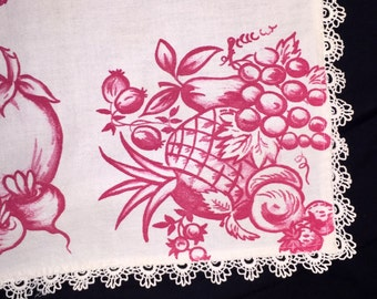 Vintage Fruit and Vegetables Table Linen