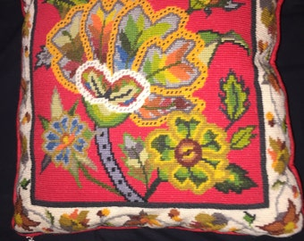 Columbia Minerva Crewel Pillow Cover