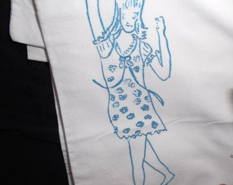 Vintage Groovy Girls Pillow Case