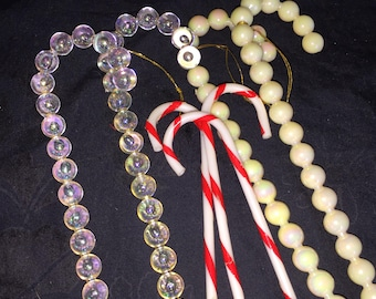 Vintage Candy Cane Christmas Ornaments